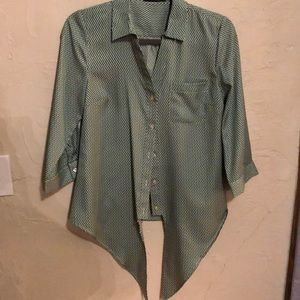 Green Ladies The Limited Blouse Size Small
